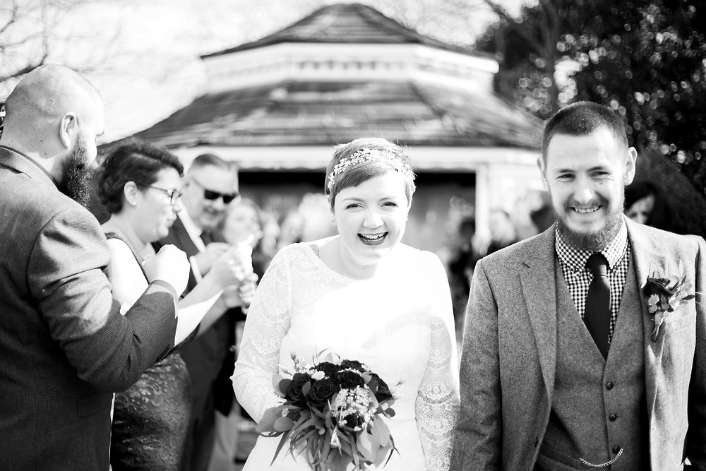 Bride and groom at Thornton Hall Hotel wedding