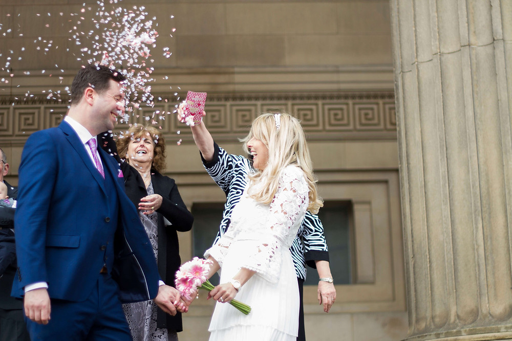 Confetti at St George's Hall Liverpool Elopement