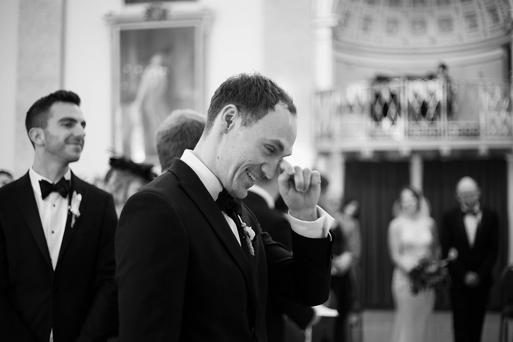 Emotional groom at Liverpool Town Hall wedding