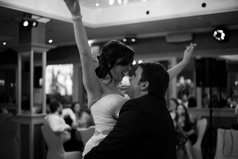 Bride and groom dancing sefton park wedding