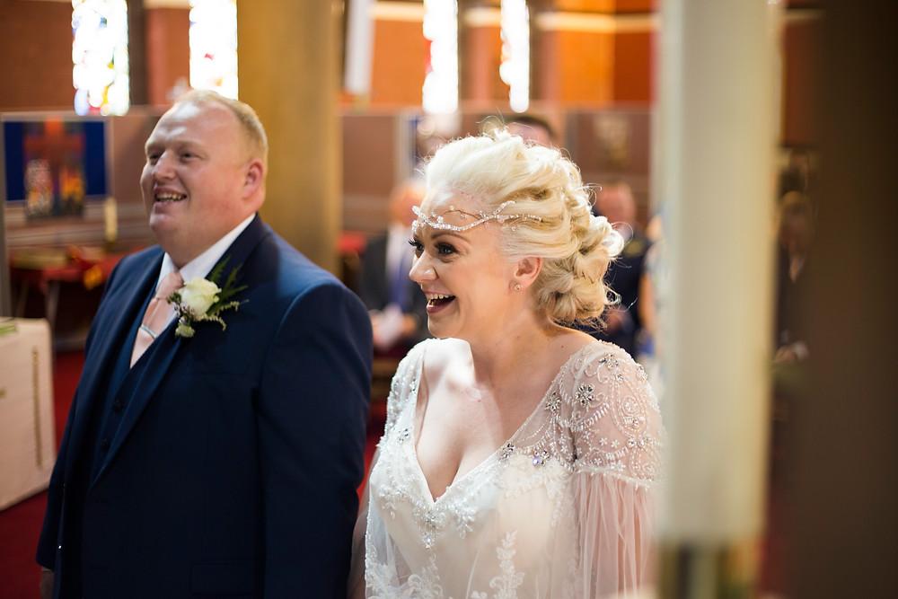 Bride and groom Oaklea Barn Wedding