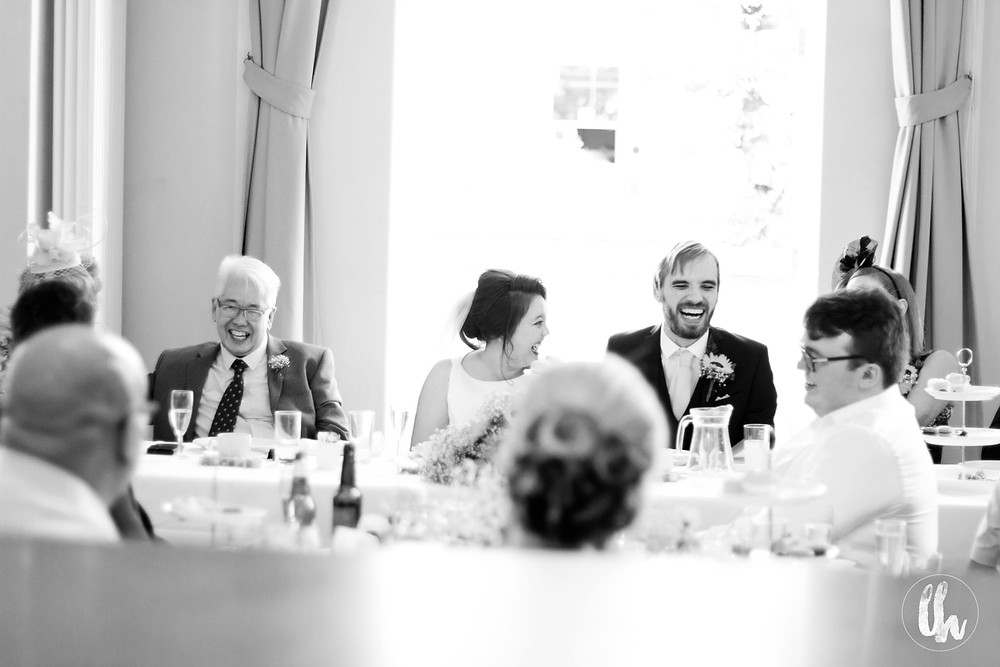 laughter at The bluecoat wedding