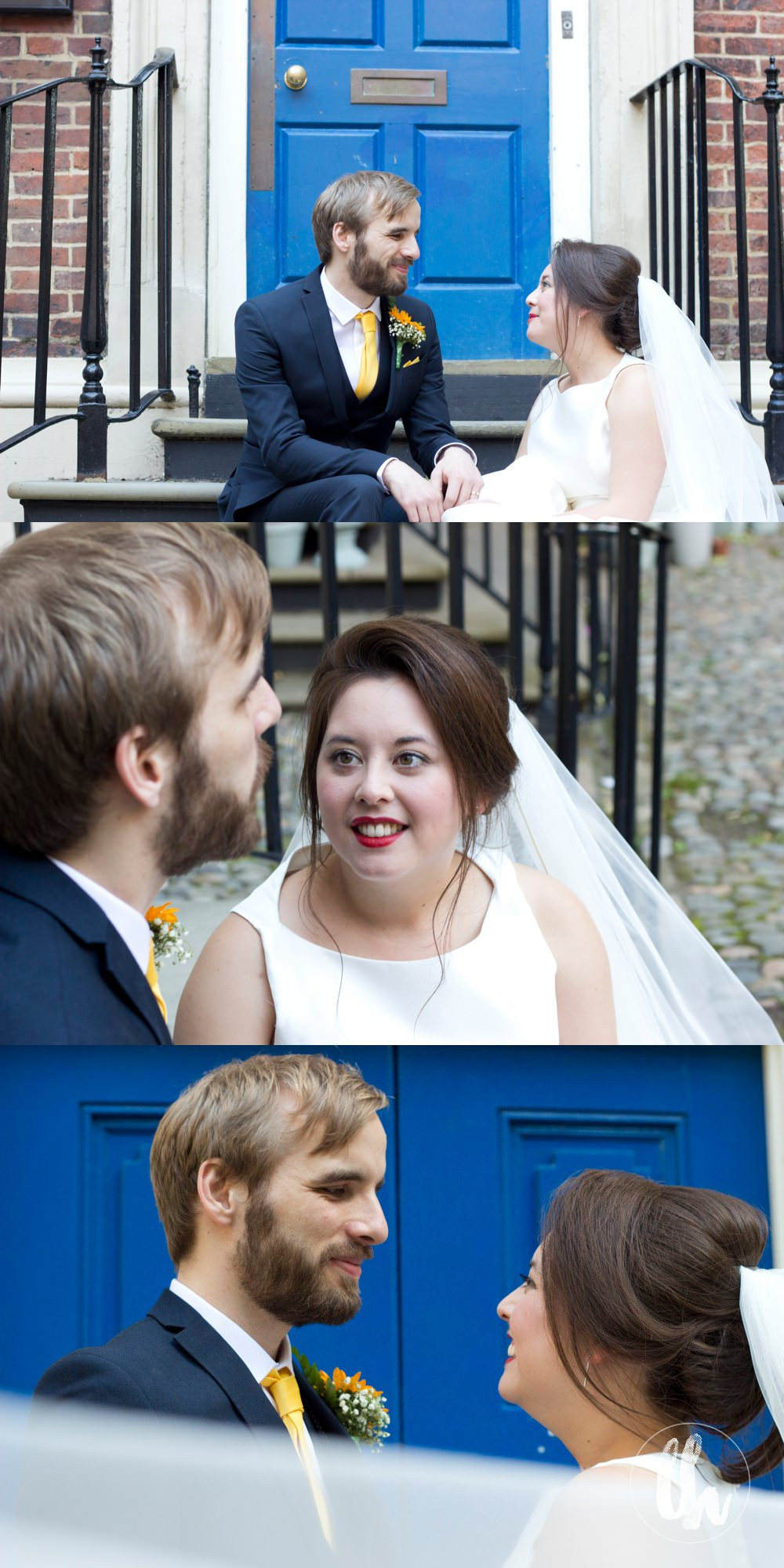 bride and groom portraits outside The Bluecoat