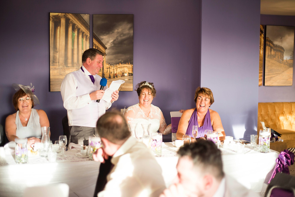 Speeches at Atlantic Tower Wedding Liverpool