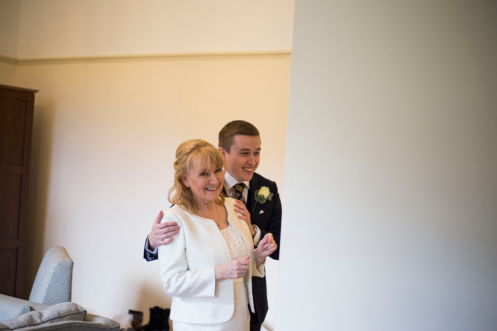 Bride and son before Inglewood Manor Wedding