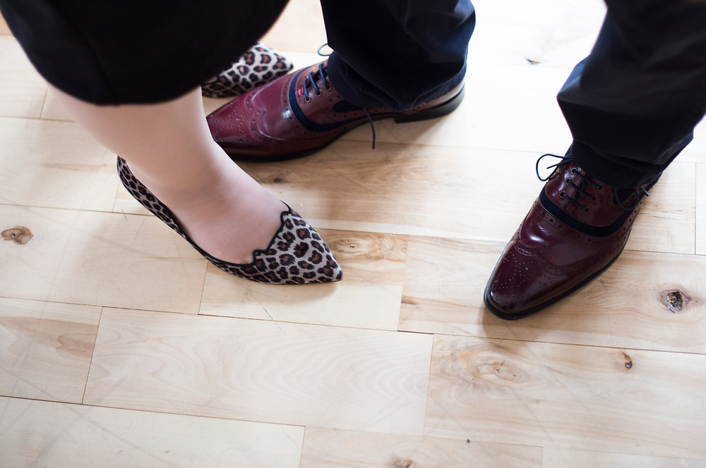 Leopard print shoes on your wedding day