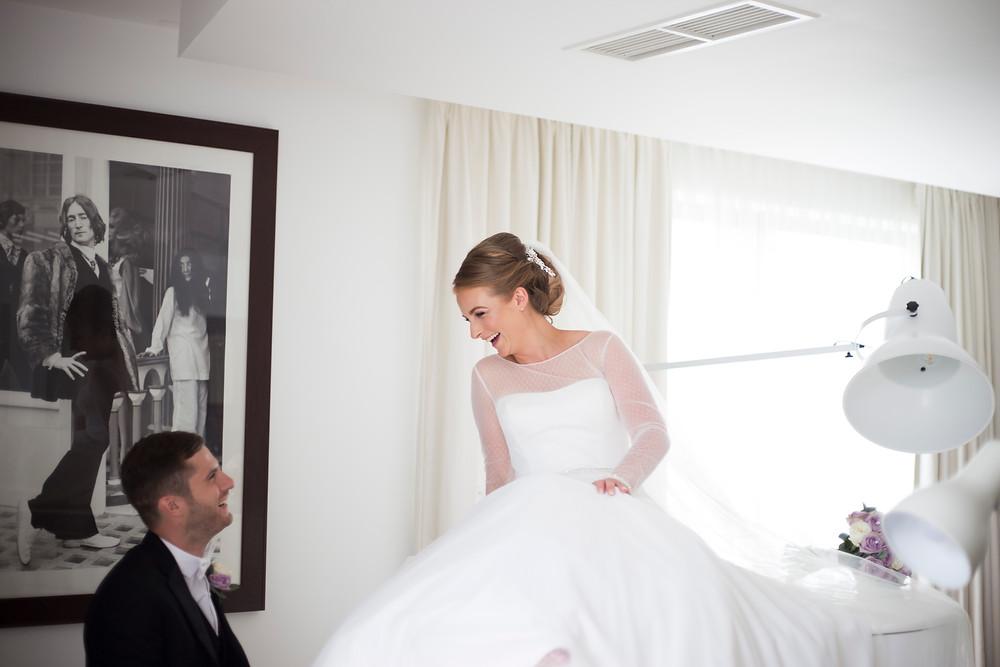 Hard Days Night Hotel Wedding  Bride and Groom