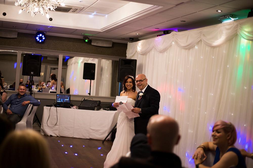 Speeches at Hallmark Hotel Sefton Park wedding