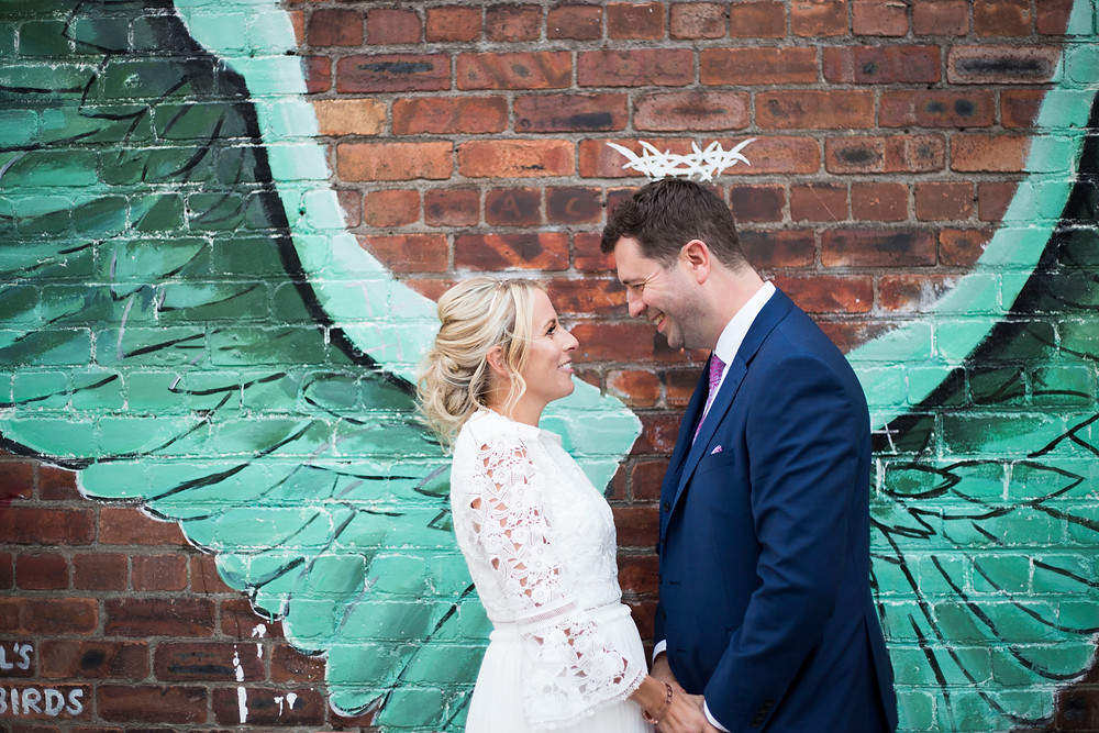 Bride and Groom in Baltic Triangle Siren Wedding Liverpool