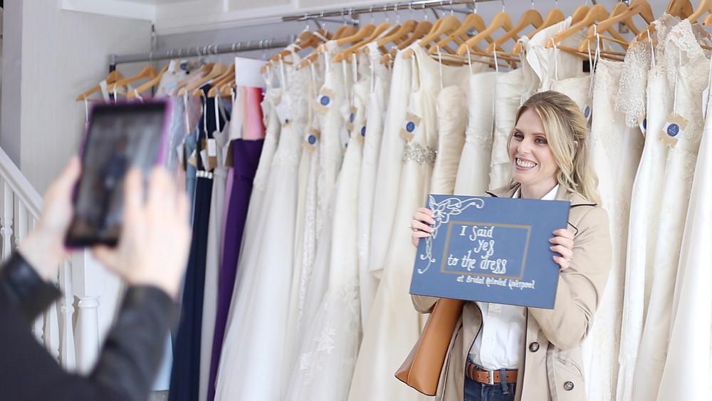 Business branding photoshoot showing customer experience