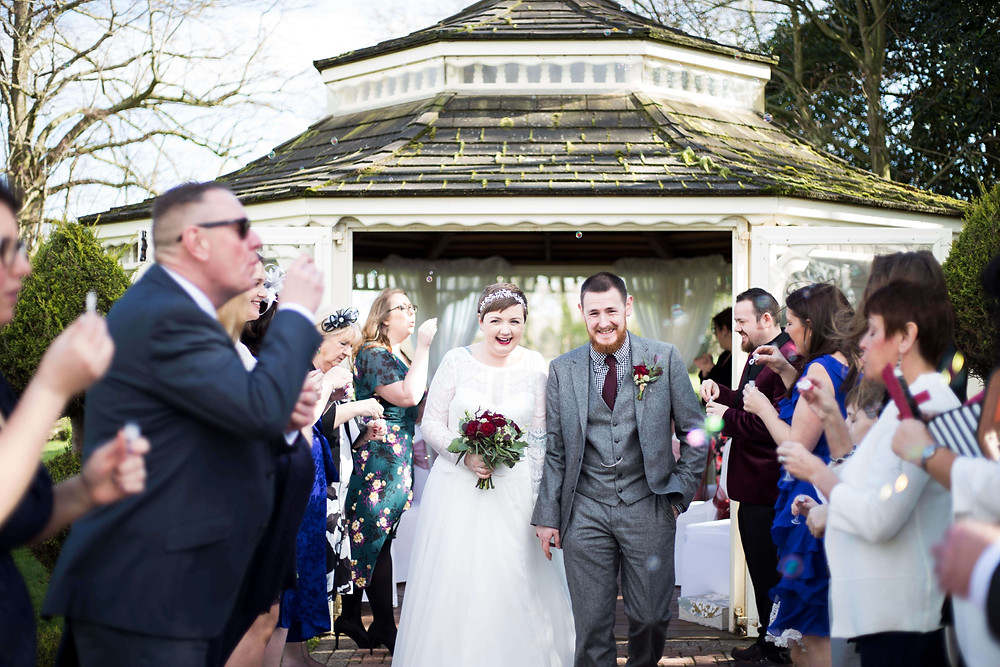 Bubble Confetti at Thornton Hall Hotel wedding