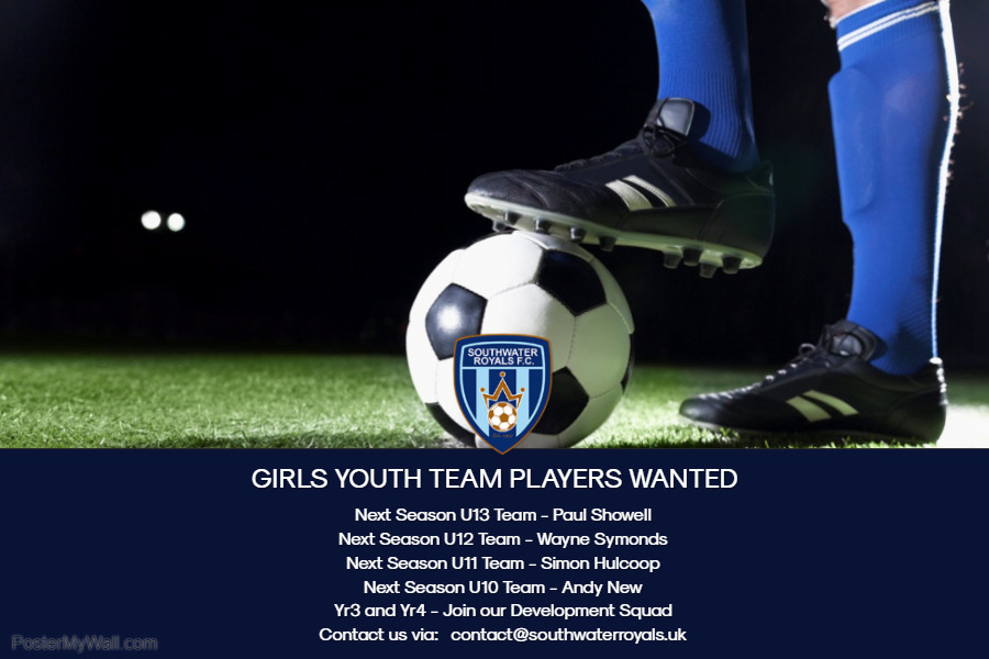 Recruitment May 2019 Southwater Royals FC Girls 3 - Made with PosterMyWall