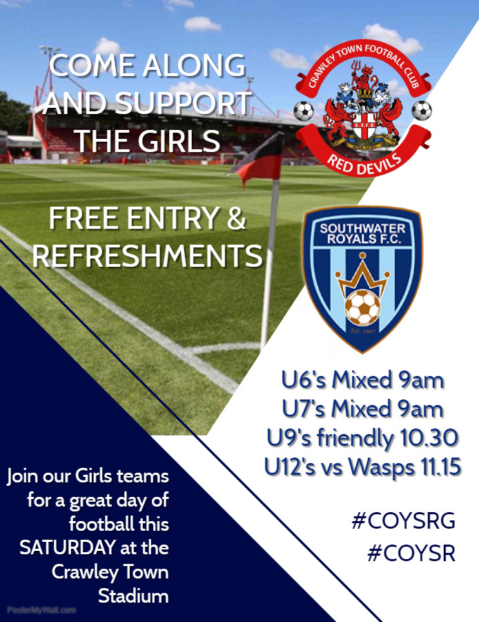 Southwater Royals FC Girls Crawley Town Event 2019