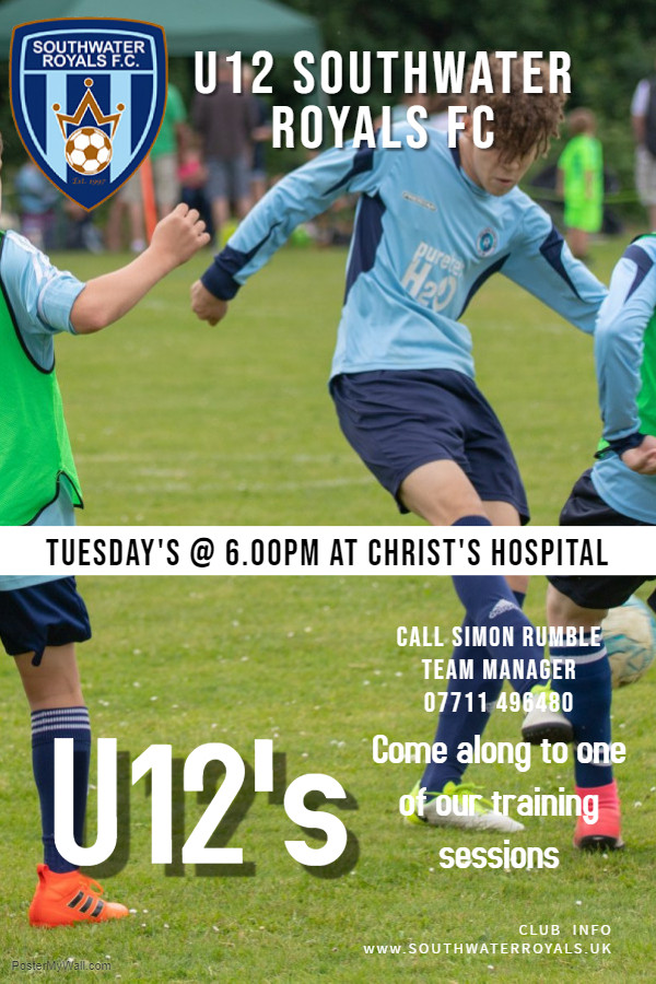 1ST u12 Recruitment Advert Jan 2019 - Made with PosterMyWall
