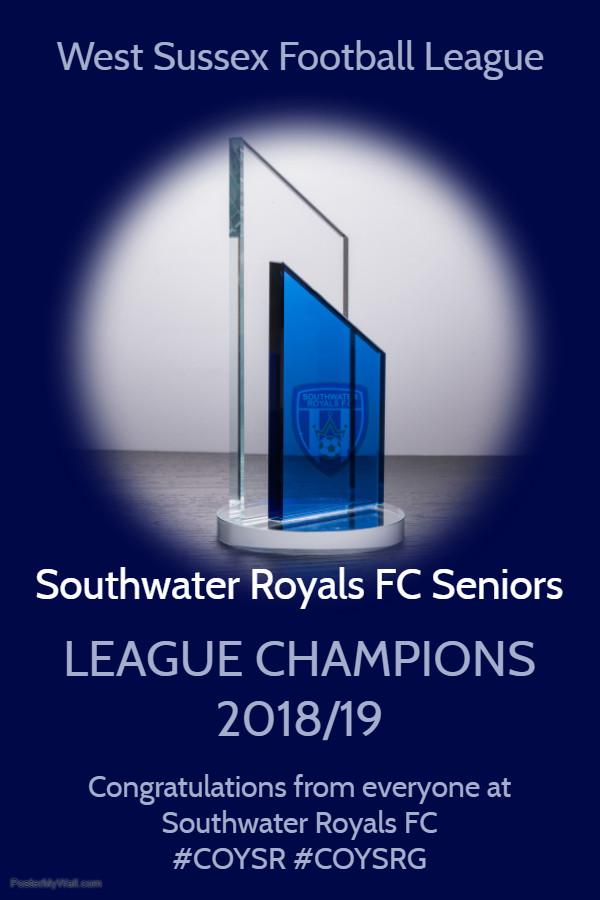 West Sussex League Winners 2018 - 2019 Season
