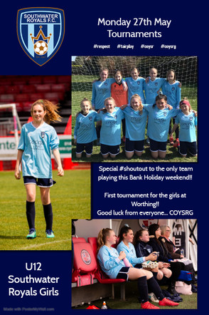 Southwater Royals FC Girls : Players Wanted 2019