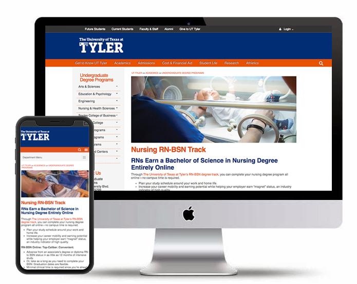 UT Tyler Academics | SEO/Content