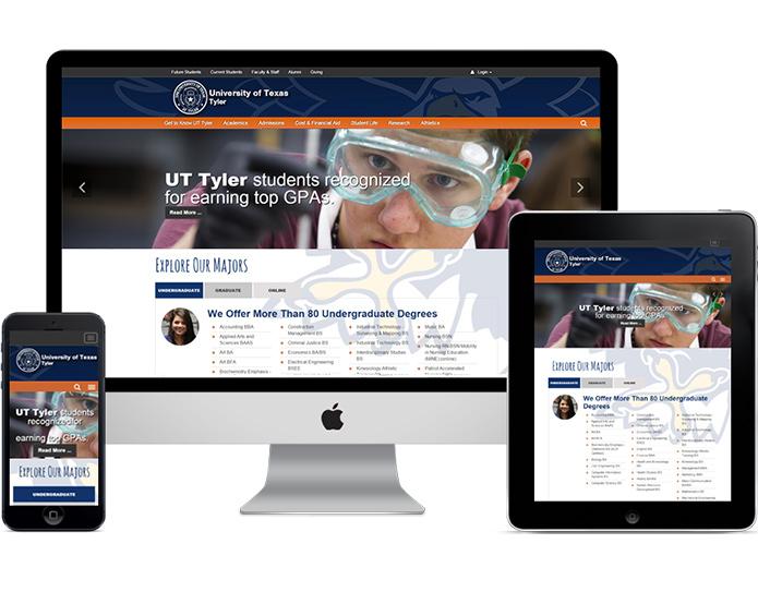 UT Tyler Responsive Site Overhaul