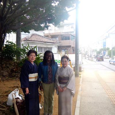 Author Sheri Hunter in Japan