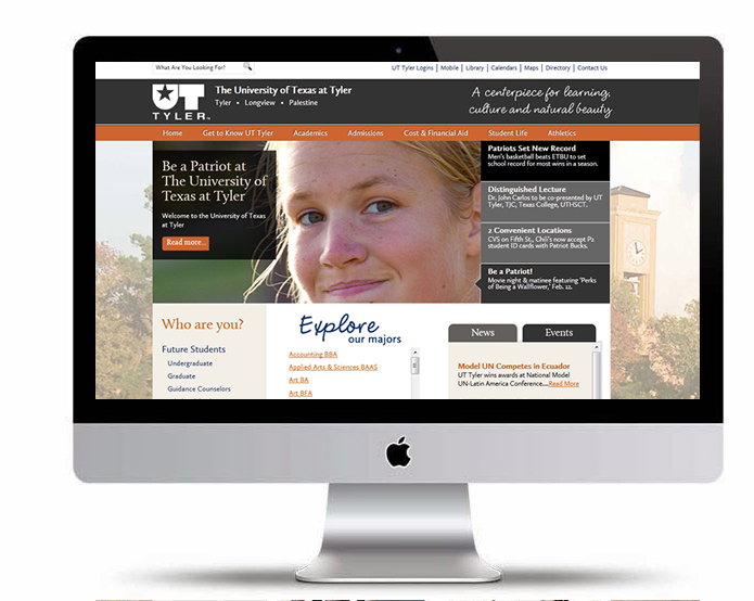 UT Tyler Website Overhaul | 2012