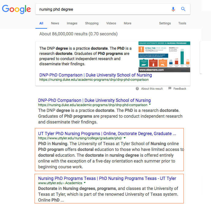 Robin Kelly SEO Front Page