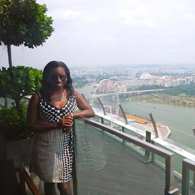 Sheri Hunter in Singapore