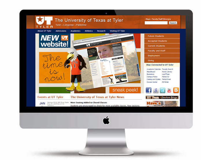 UT Tyler Website Redesign