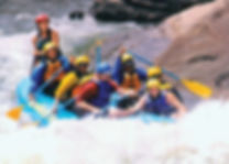 Sheri Hunter, Author rafting white rapids