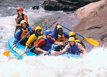 Sheri Hunter, Author rafting white rapids