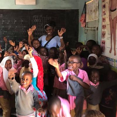 Sheri Hunter at Kilimanjaro with kids