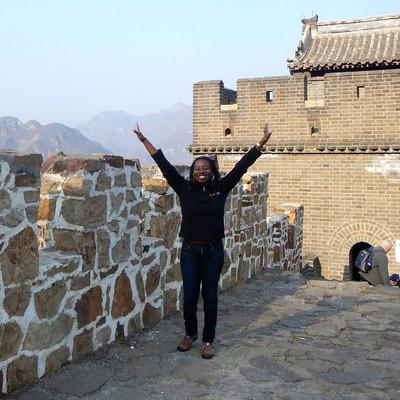 Sheri Hunter on the Great Wall of China