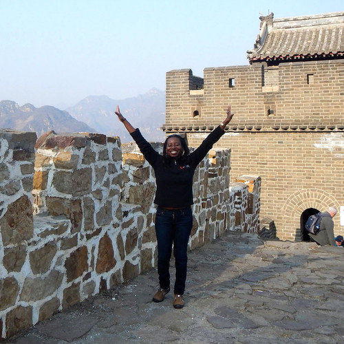 Sheri Hunter on the Great Wall of China
