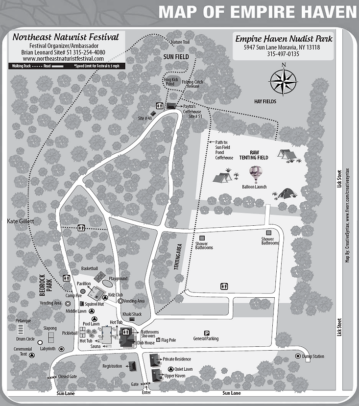 NENF 2019 Campground Map