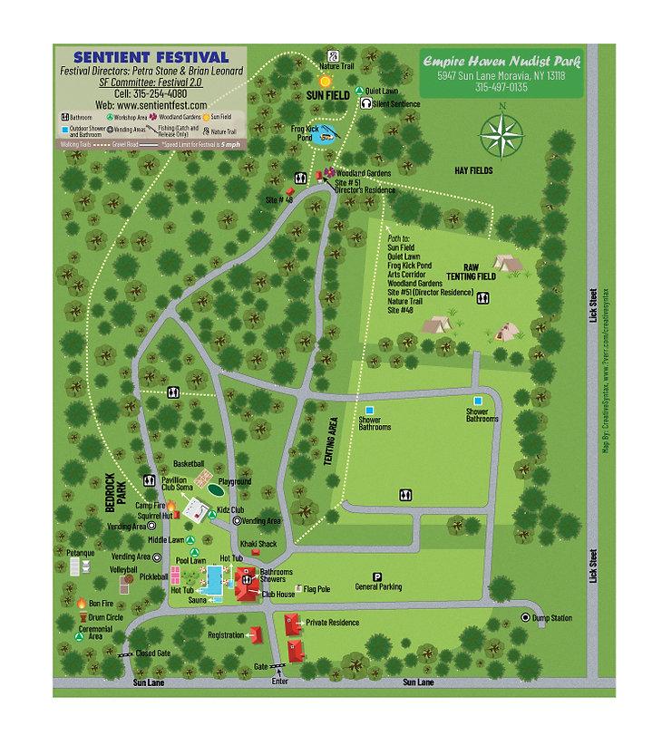 Sentient Festival Map