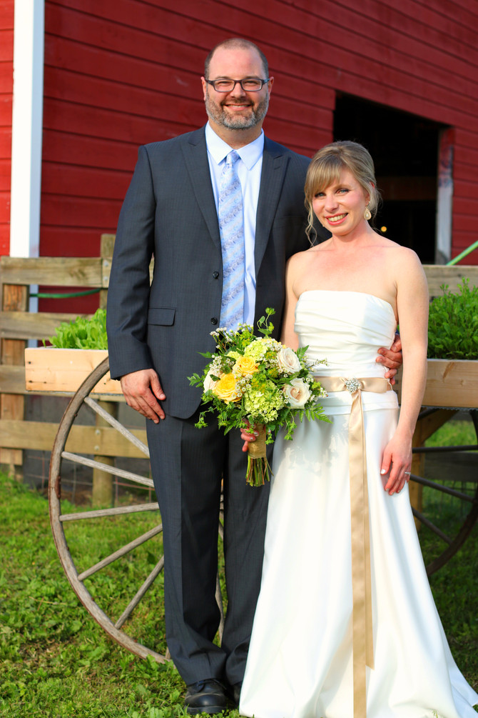 Laurie and Mike at Dancing Ewe Farm