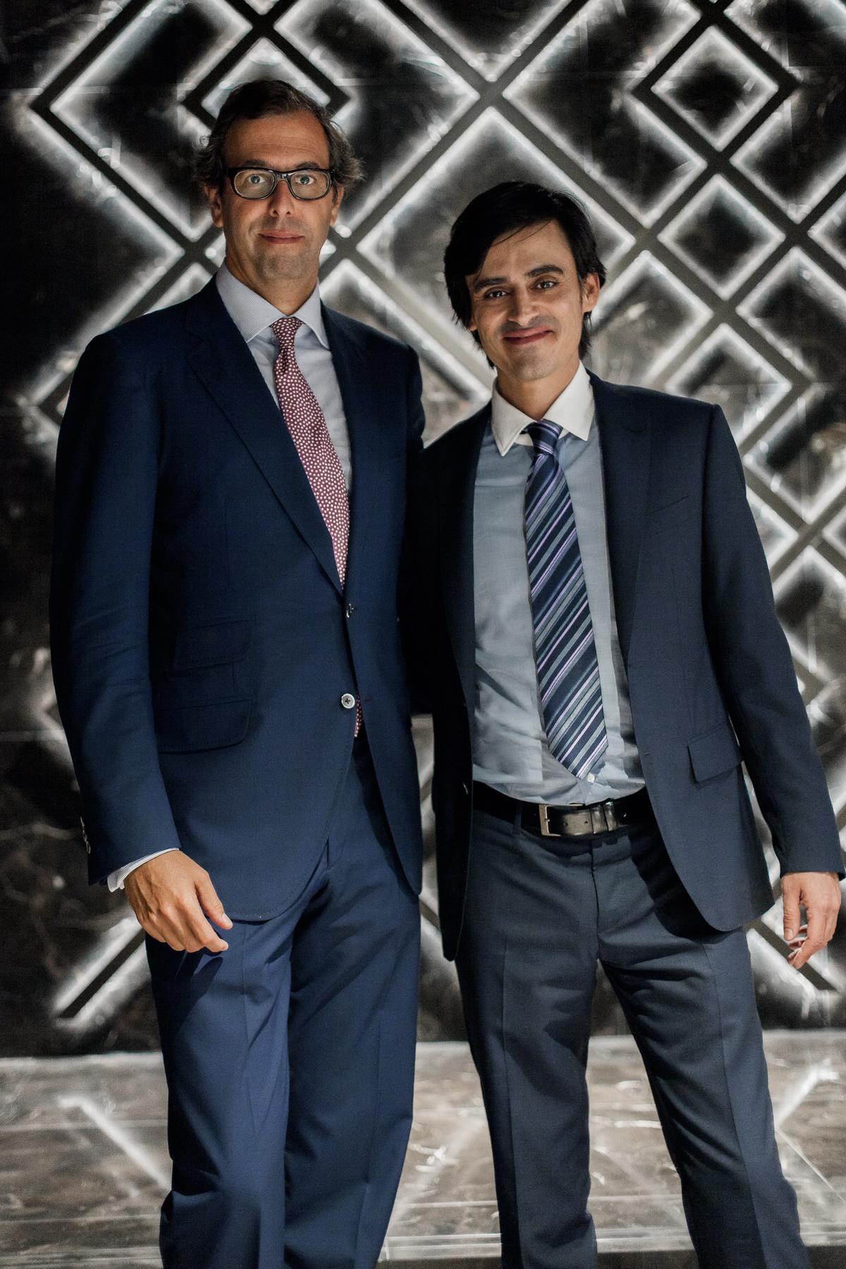 Luis Sans y César Yusty
