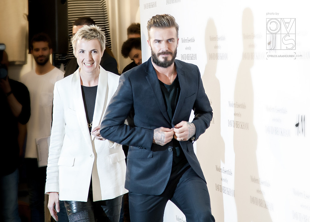 David Beckham junto a Doris Klein, directora general de H&M para España y Portugal. Fotos por Carlos Aranguren
