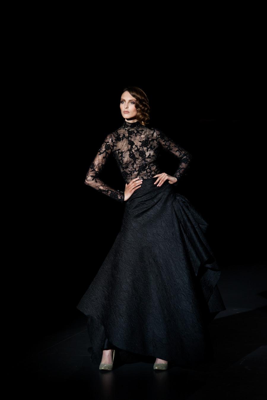 Colección Otoño- Invierno 2015 de Hannibal Laguna, presentada en la Mercedes Benz Fashion Week Madrid. fotografía por Carlos Aranguren