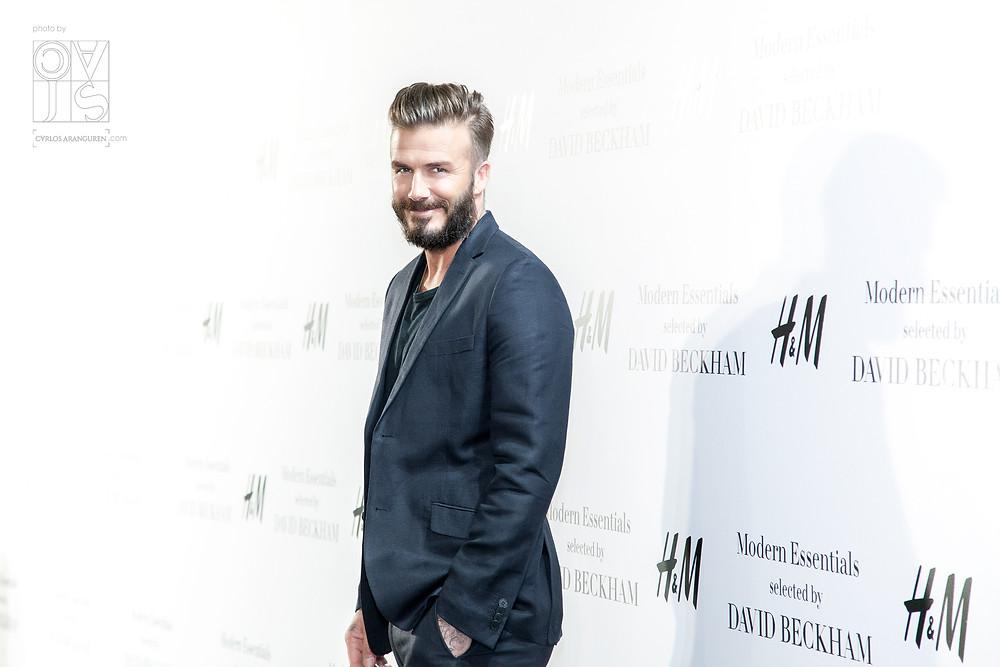 David Beckham presentando su colección Modern Essentials para H&M en Madrid. Fotografías por Carlos Aranguren
