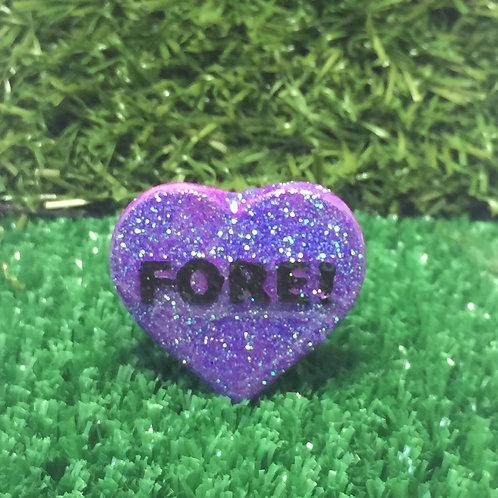 Purple Fore! Conversation Heart