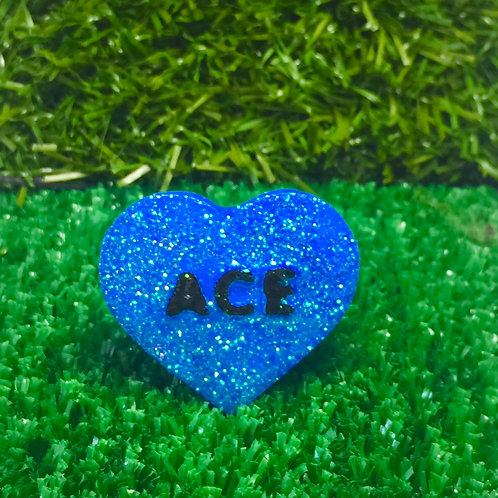 Blue Ace Conversation Heart