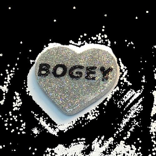 Silver Bogey Conversation Heart