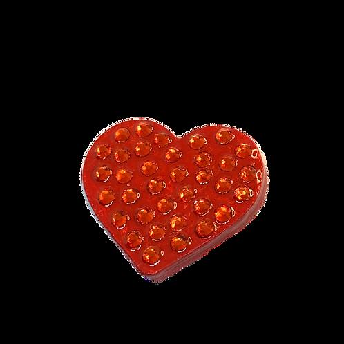 Red Rhinestone Heart