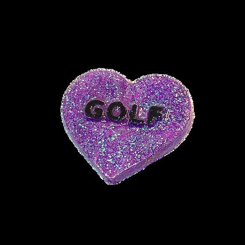 Purple Golf Conversation Heart