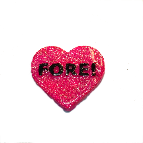 Pink Fore! Conversation Heart