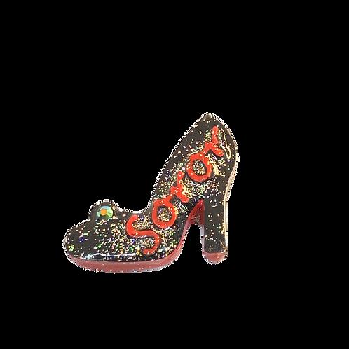 Black High Heel with Red Soror