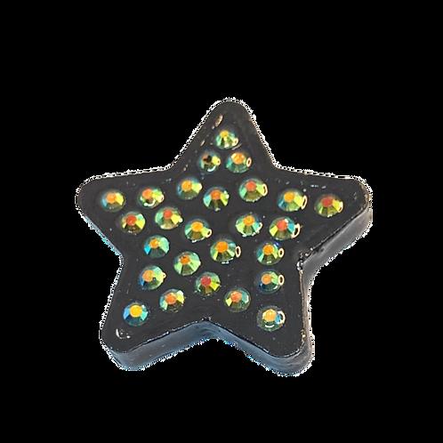 Black Rhinestone Star