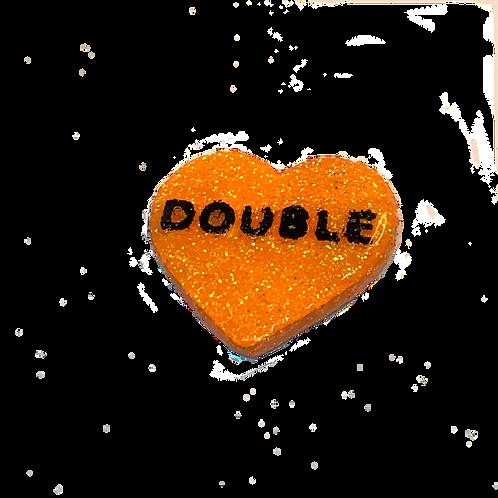 Orange Double Conversation Heart