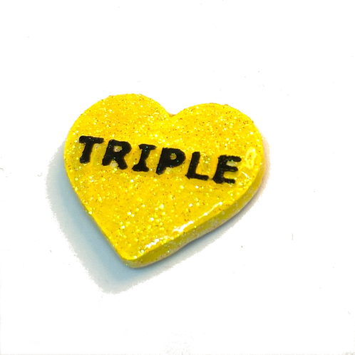 Yellow Triple Conversation Heart