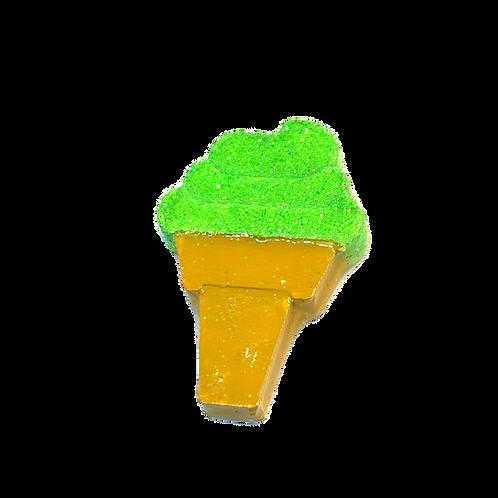 Lime Ice Cream Cone